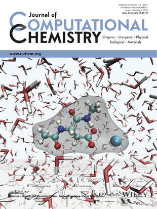 Cover of the Journal of Computational Chemistry featuring my QM/MM software